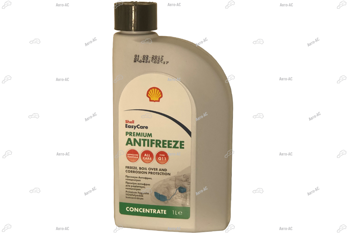 Антифриз Shell Premium Antifreeze Concentrate синий 1л.